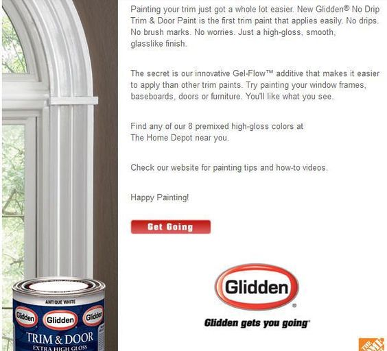 Glidden Trim Door Paint Premium Interior Exterior Oil Gloss Paint New Glidden Trim Door