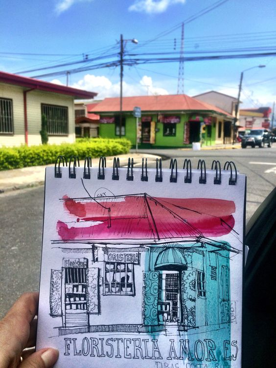 Monday Sketchtrip: Tibas, Costa Rica