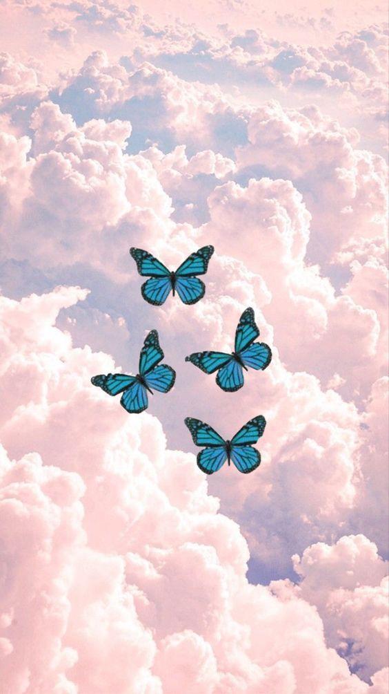 Pin By Rahaf Bashnaini On Aesthetic Iphone Wallpaper Pattern Butterfly Wallpaper Iphone Butterfly Wallpaper
