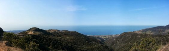 Zuma Canyon Ridge trail looking out over Malibu, California and the Pacific Ocean