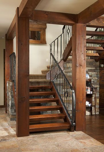 Best Timber Frame Homes Open Stairs And The Loft On Pinterest 400 x 300