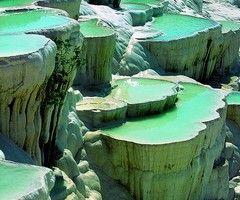 Turkish natural rock pool