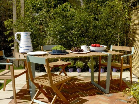 albee teak furniture range for more permanent furniture in the garden habitat