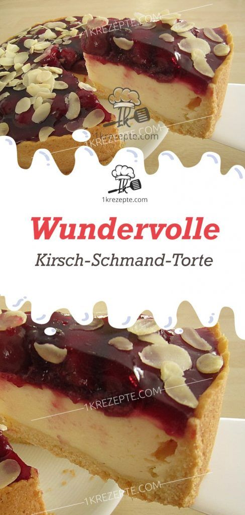 Wundervolle Kirsch Schmand Torte 1k Rezepte Sour Cream Cake Oreo Recipes Chocolate Chip Cookies