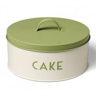 Vintage Green Round Cake Tin