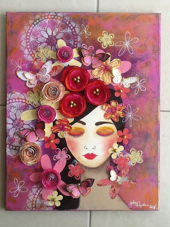 Garden of Tranquility…Mixed media on canvas! $150.00 plus postage :)