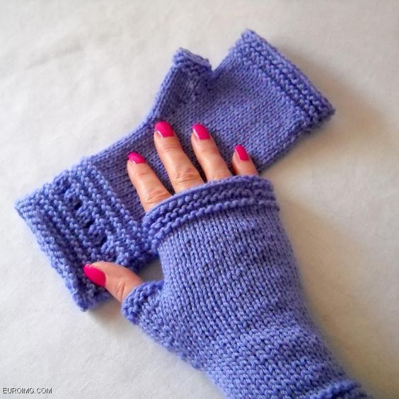 Easy Knitting Patterns For Mittens : Gloves, Knitting and Knitting patterns on Pinterest