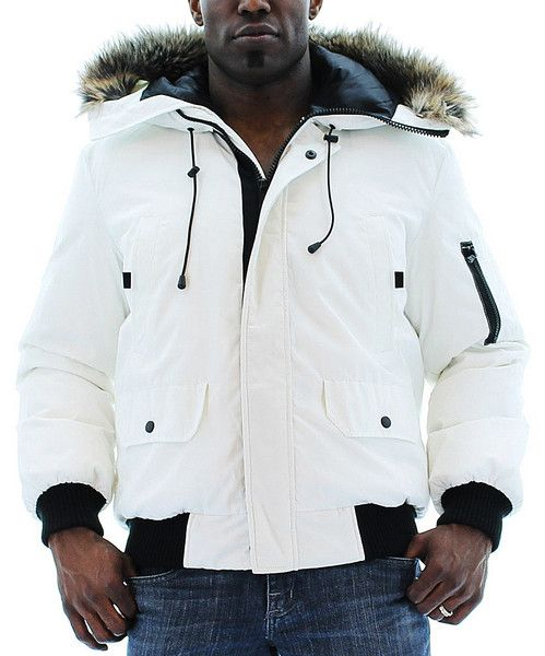 Kenneth Cole Reaction Men's Bubble Down Jacket Coat Hooded Faux ...