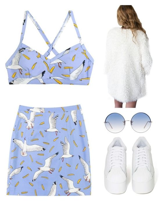 """Untitled #1662"" by telletubbies ❤ liked on Polyvore featuring Jeffrey Campbell and Linda Farrow"