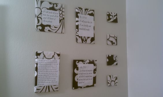 I made these decorations for the bathroom by using cereal boxes wrapped in pretty wrapping paper and printed off inspiring quotes to place on them! Easy and beautiful.: Wall Art, Inspiring Quotes, Wrapping Paper, Decoration, Place, Craft Ideas