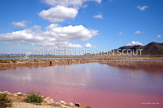 Salt lake, landscape, pink, Almeria