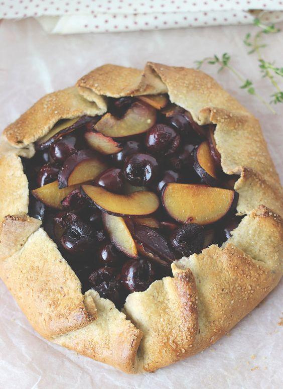 Cherry Plum Hazelnut Galette | Blahnik Baker