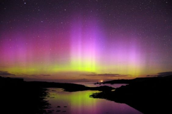 Best places in Scotland to see the Northern Lights: The Northern Lights captured over Mull in August