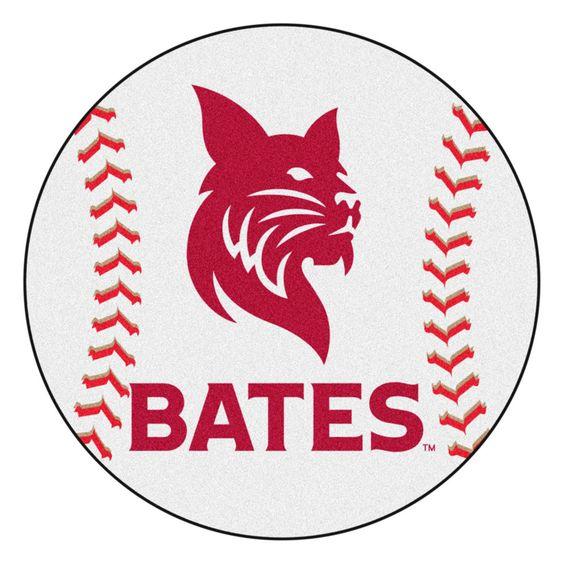 Bates Bobcats Grand Slam Baseball Area Rug