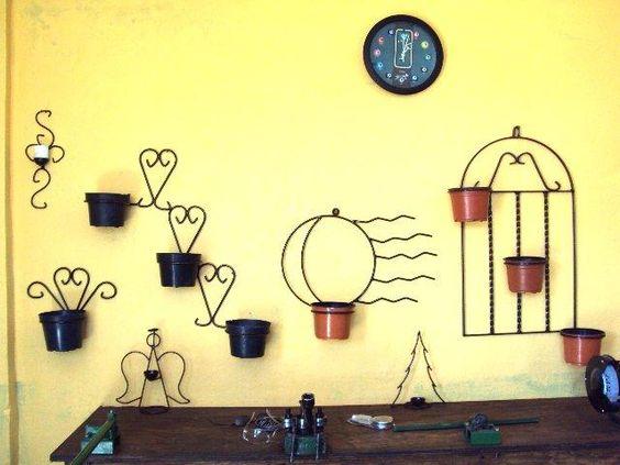 Maceteros herreria artesanal mexicana artemetal - Maceteros de hierro ...