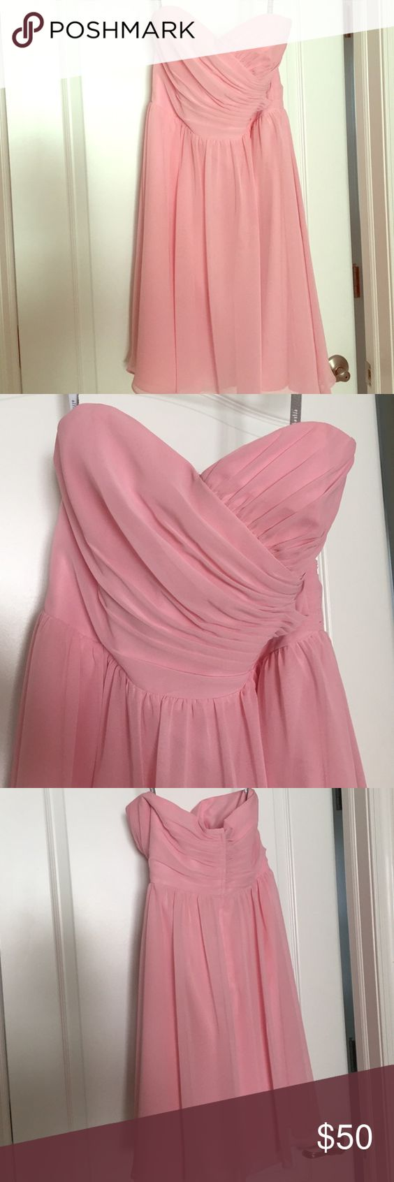 Alfred Angelo Bridesmaid Dress! Alfred Angelo Short Bridesmaid Dress-worn once! Never altered; Size 8; Tea Rose Alfred Angelo Dresses Wedding