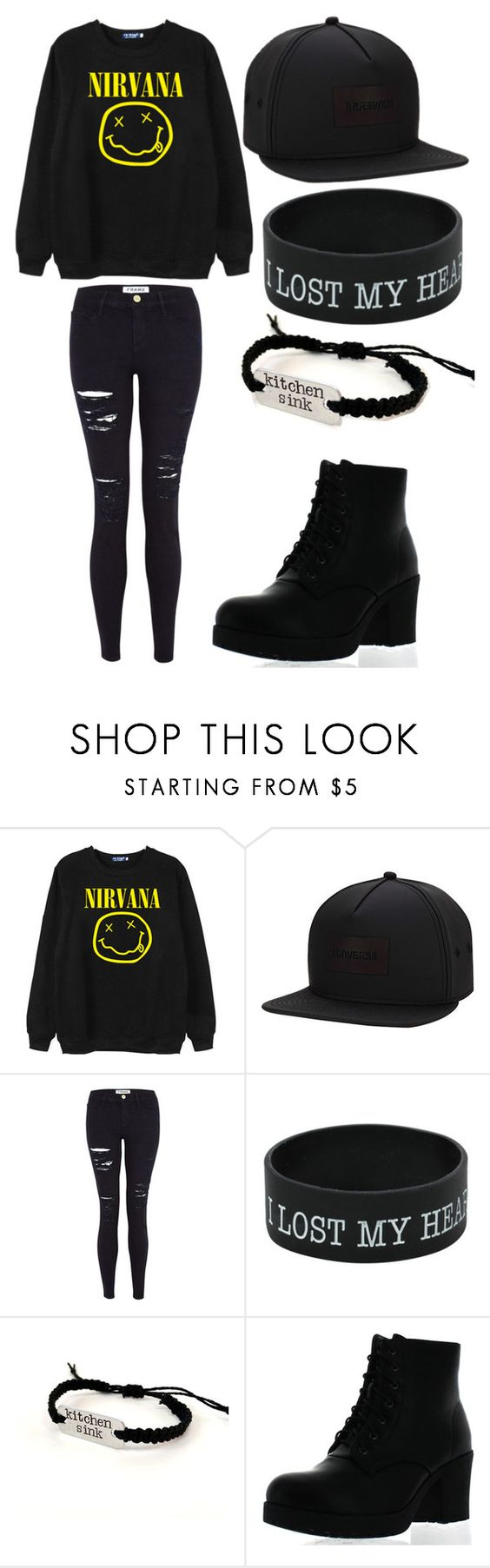 """""""Untitled #213"""" by tylerjoseph-890 ❤ liked on Polyvore featuring Chicnova Fashion, Converse, Frame Denim and Refresh"""