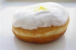 Iced Lemon Filled Doughnuts