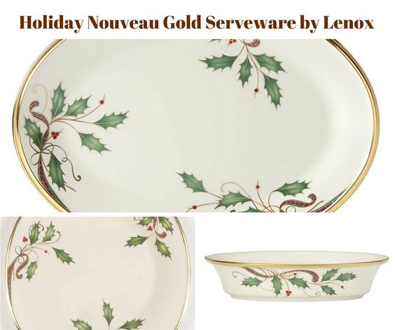 Holiday Nouveau Gold Serveware by Lenox