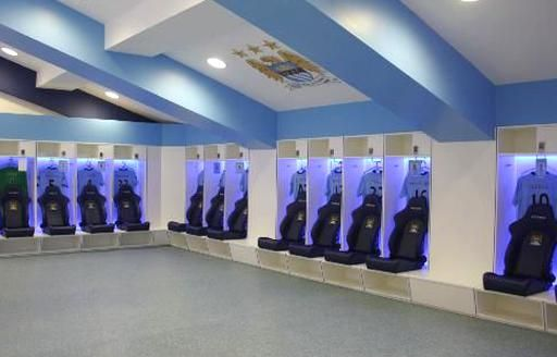 Manchester City Dressing Room In 2020 Dressing Room Locker Room Lockers