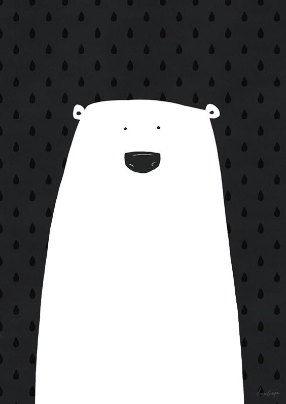 polar bears black and white posters and bears on pinterest. Black Bedroom Furniture Sets. Home Design Ideas
