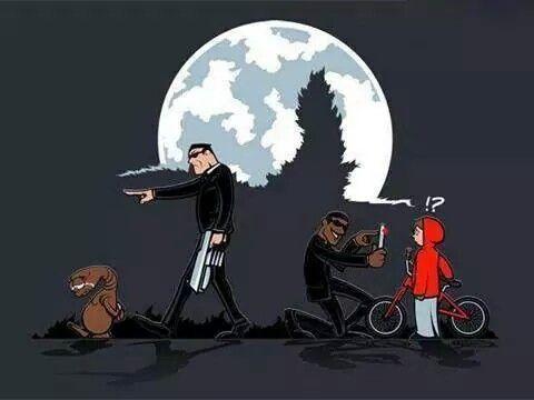 E.T vs Men in Black