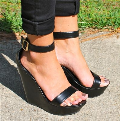 All Black Wedges