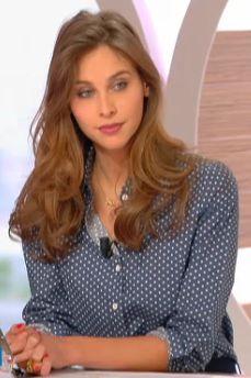 Chemise bleue à pois d'Ophélie Meunier #111214