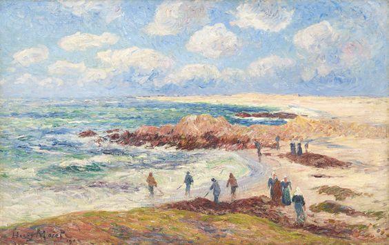 Henry Moret (1856-1913)La plage de Trévignon dans le Finistère, 1903 Huile sur toile Signée et datée en bas à gauche 61 x 93 cm (c) Stéphane Briolant