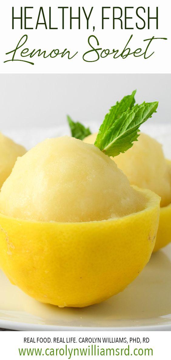 Healthy Lemon Sorbet