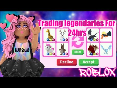 Only Trading Legendary Pets For 24 Hours In Roblox Adopt Me Youtube In 2020 Adoption Roblox Pets