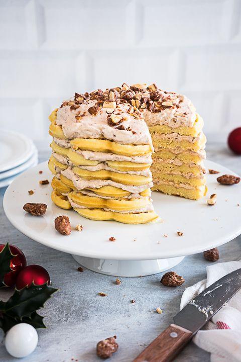 Vanille Waffel Torte Mit Gebrannten Mandeln Werbung Waffelkuchen Kuchen Und Torten Backrezepte