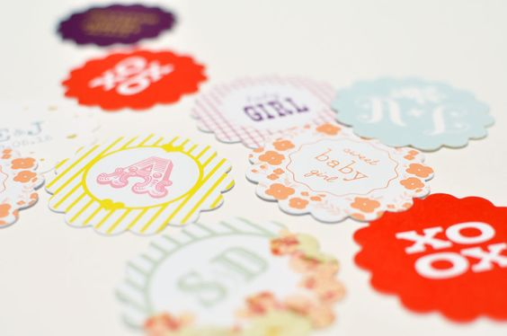 Scallop Favor Tags Custom