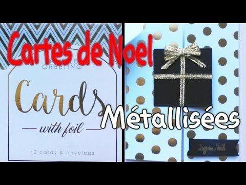 Tuto diy Cartes de Noel   Effet métallisé Set de cartes ACTION et