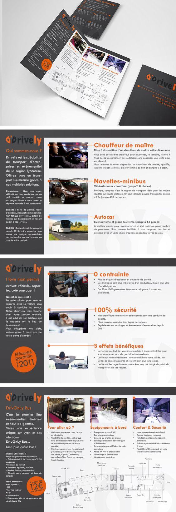 Plaquette commerciale - Sales Leaflet - Drively - Société de transport - Transport company