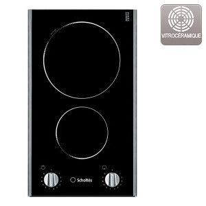 Table de cuisson vitrocéramique - 2 foyers - 3200 W - 29.7 x 52 cm