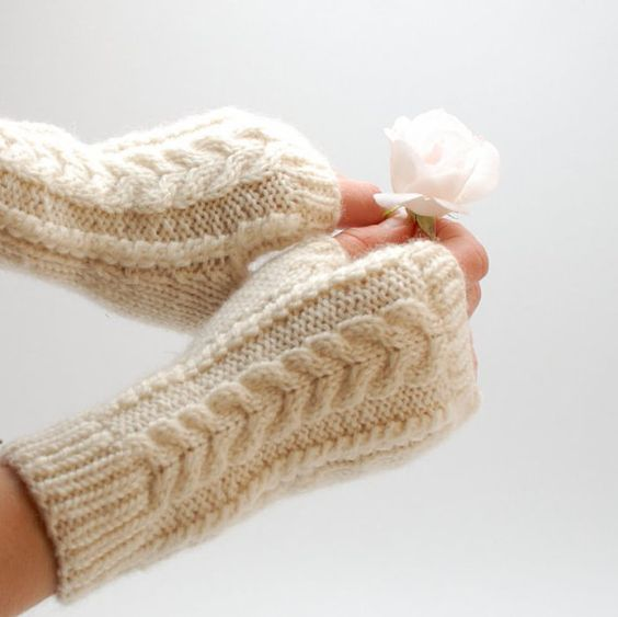 Knitted wool fingerless gloves - for those winter days when typing on the keyboard just makes your hands super cold.