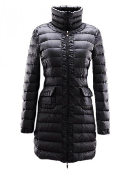 Long down coat Down coat and Black down on Pinterest