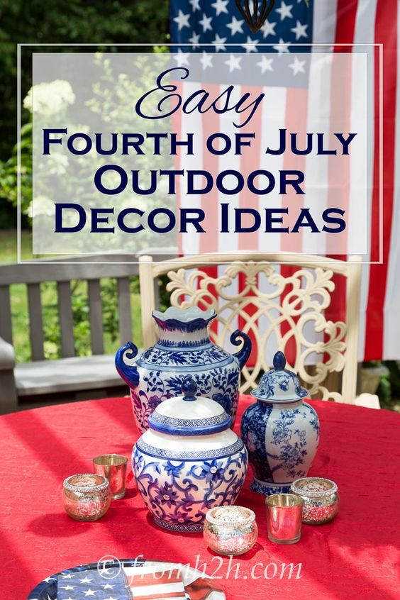 Decorating ideas outdoor decor and decor on pinterest for 4th of july decorating ideas for outside