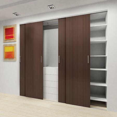 Sistema corredizo al suelo con freno para puertas de for Puerta walking closet