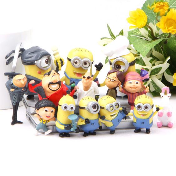 New Despicable me 2 minions Movie Character Action Figures Toy Set of 14pcs GIft #NEW