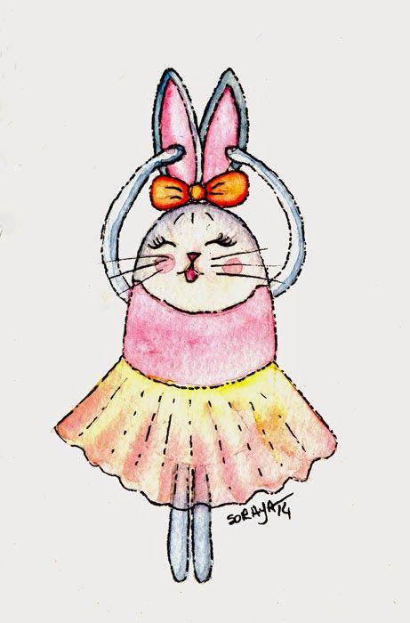 52aquarelas: 31/52 - Coelha bailarina http://52aquarelas.blogspot.com.br/