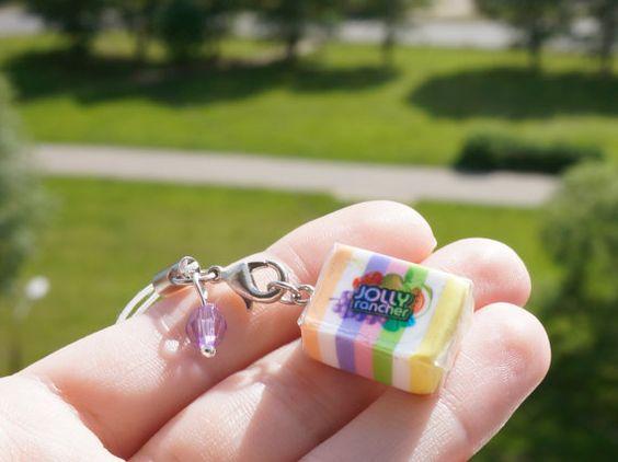 Sleutelhanger gom wrapper in | snoep sleutelhanger | mini voedsel sieraden | schorsing snoeppapiertje | minitayura candy | voedsel gift | roestvrij Snoep