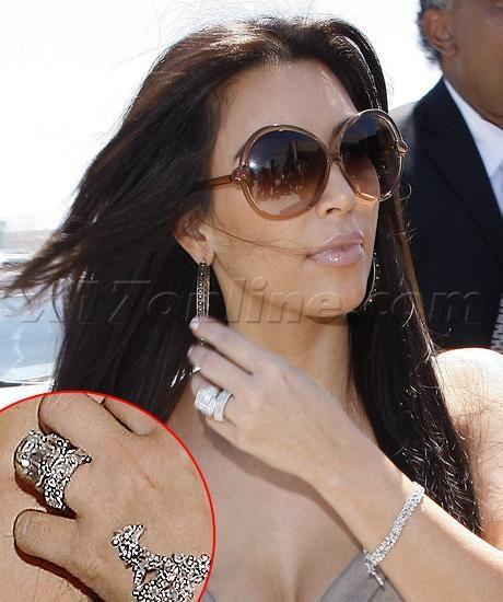 picture of kim kardashian wedding ring