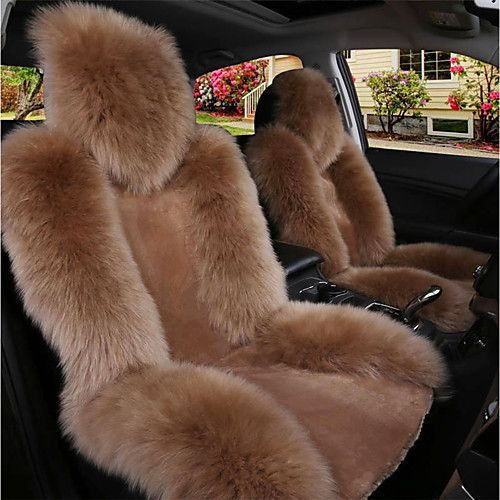 Full Set Gold Tiger Faux Fur Furry Car Seat Covers Ford Focus