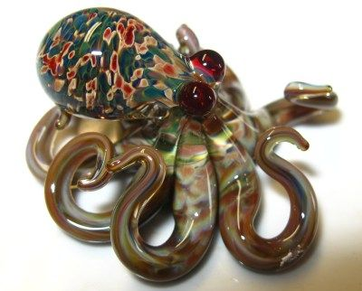 A lovely glass octupus, very popular with the steampunk crowd.