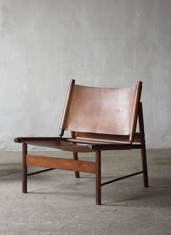 Jorge Zalszupin; Rosewood and Leather Lounge Chair, 1955.