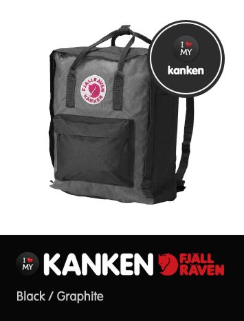 kanken black and graphite