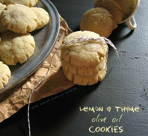 Lemon-Thyme Olive Oil Cookies | une gamine dans la cuisine