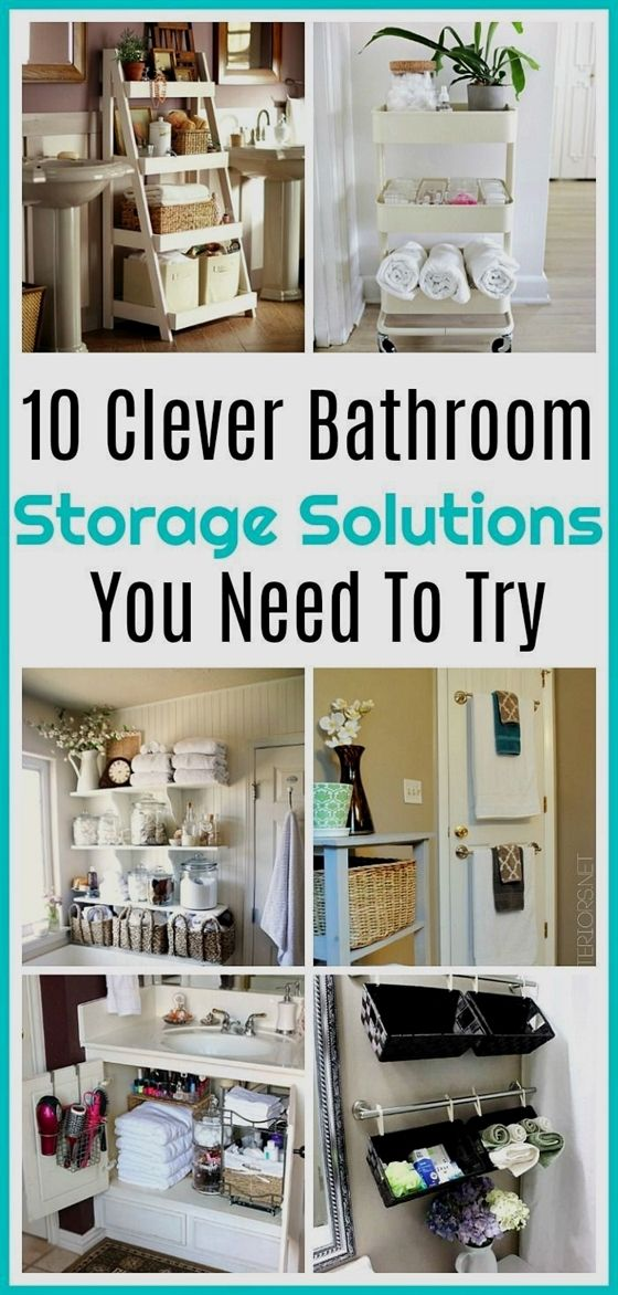 10 Clever Bathroom Organization Solutions What Home Couldn T Use More Stora Small Bathroom Storage Solutions Clever Bathroom Storage Bathroom Organization Diy